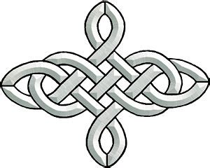 4 point celtic knot bevel cluster assorted objects