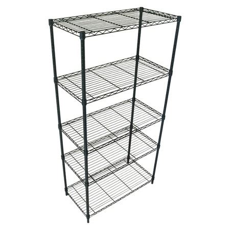 black wire shelving adjustable 5 tier wire shelving unit black room essentials target