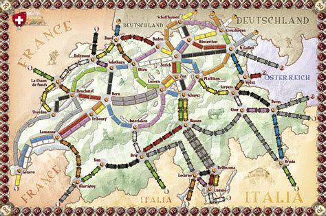 Promo Ticket To Ride India And Swiss Expansion Board la carte et le territoire the map and the territory