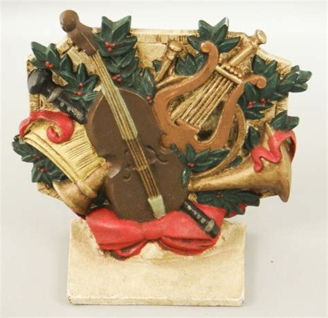 cast metal musical instruments christmas decor