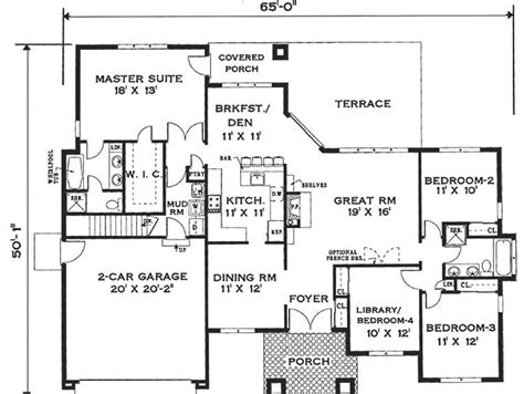 1 floor modern minimalist house plan 4 home ideas