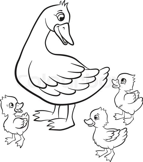 coloring pages of ducks and ducklings coloring pages kind duck and free little cute ducklings