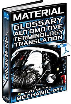 glossary  automotive terminology english spanish