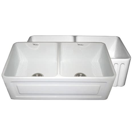 whitehaus reversible series bowl fireclay sink with