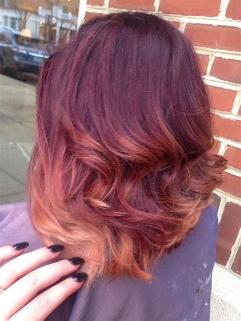 Red To Blonde Ombre Bob | red ombre shoulder length hair www pixshark com images