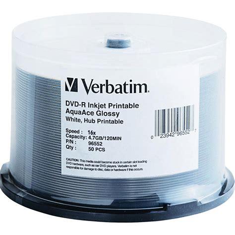 Dijamin Verbatim Dvd R 16x verbatim dvd r aquaace glossy white inkjet printable hub 96552