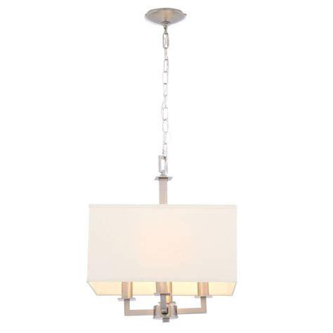 lighting store menlo park hton bay menlo park 4 light brushed nickel pendant