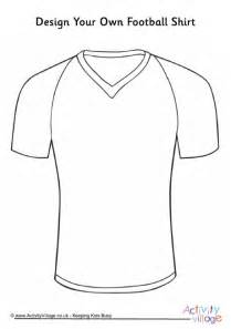Design Your Own Football Shirt sketch template