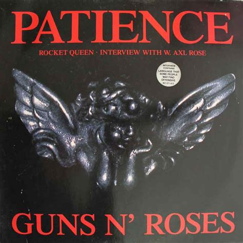 testo patience guns n roses apologies this one s out of stock vinyl clocks