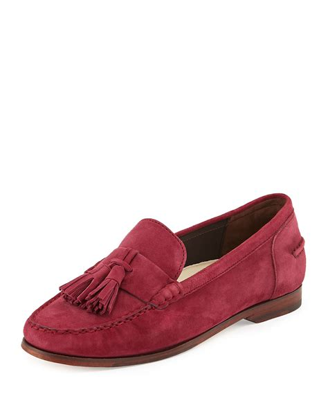cole haan tassel loafers lyst cole haan pinch grand tassel loafers in