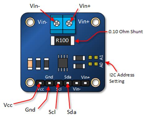 Resistor Table Arduino Ina219 Current Voltage Tutorial Henry S Bench