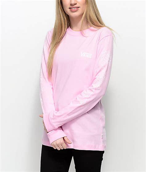 T Shirt Pink Vans vans pink sleeve t shirt