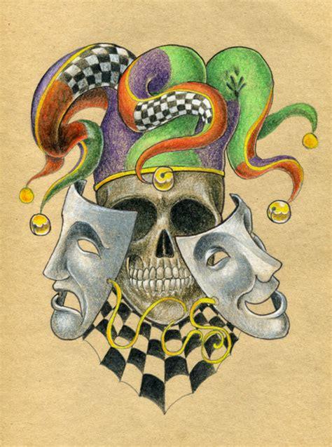 tattoo old school joker old school skull joker tattoo sketch design tattoomagz