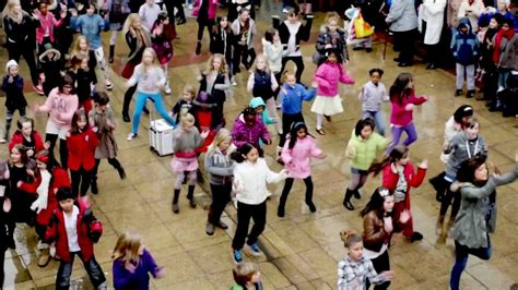 tutorial dance flash mob surprise flash mob with 100 children in watford christmas