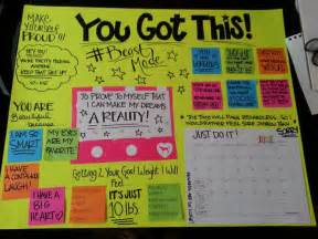 Motivational board i am beautiful and my goals on pinterest