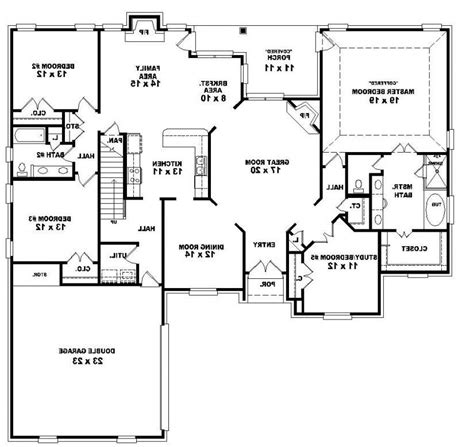 653964 two story 4 bedroom 3 bath french country style 4 bedroom house plans with photos
