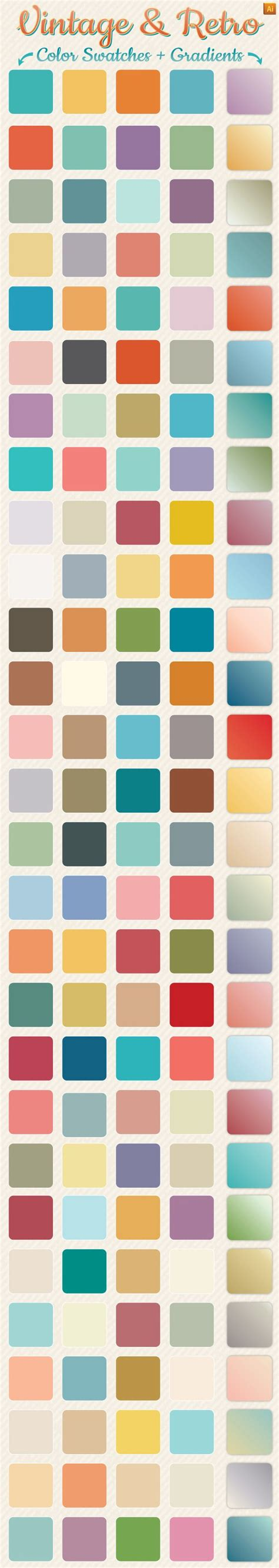 create pattern swatch adobe illustrator vintage retro gradients color swatches vintage