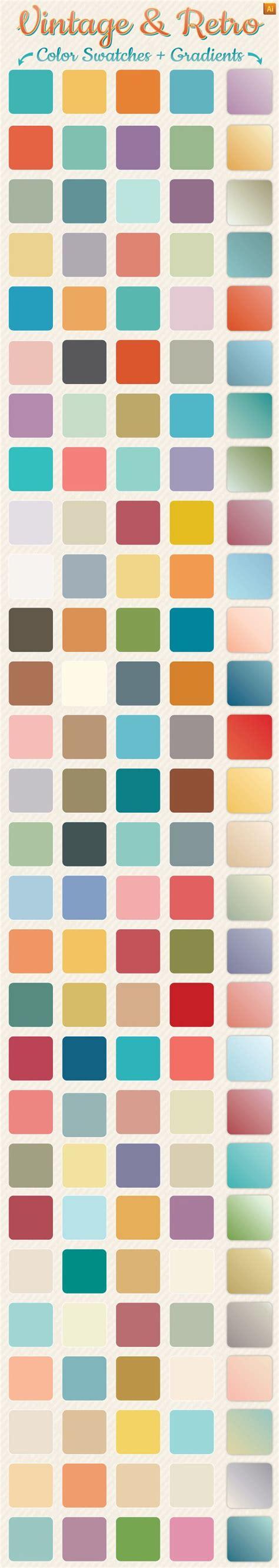 adobe illustrator change pattern color vintage retro gradients color swatches vintage