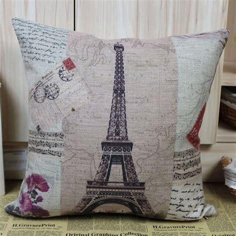 home decor paris theme france paris eiffel tower music sheet cushion cover