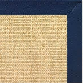 sisal rug with blue border sand sisal rug w navy blue cotton border