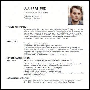 Modelo Curriculum Licenciado Derecho Modelo Curriculum Vitae Ayudante De Gerencias Y Jefaturas De Oficinas Livecareer