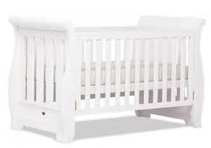 White Sleigh Cot Bed Babybabyonline Boori Country Sleigh Cot Bed White