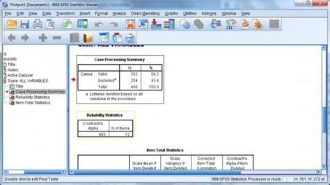 tutorial ibm spss statistics 20 ibm spss statistics 20 cronbach s alpha youtube