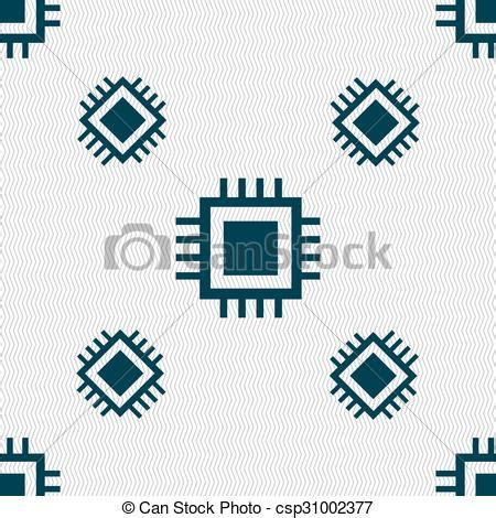 pattern units svg vectors illustration of central processing unit icon