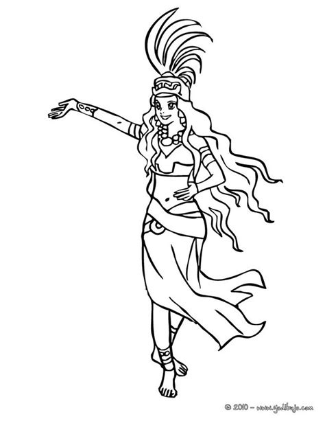 imagenes mayas para imprimir dibujos para colorear princesa maya es hellokids com