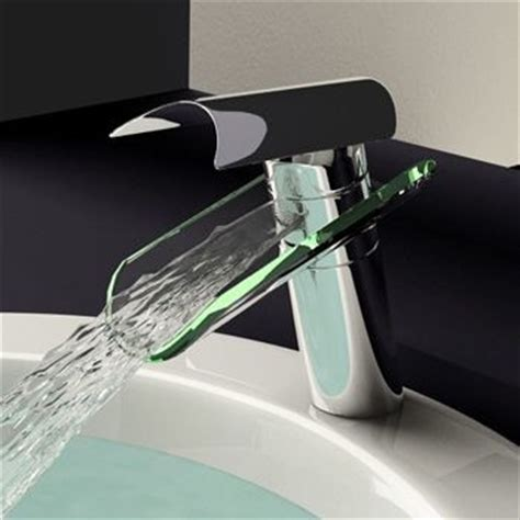glass waterfall bathroom sink faucet 0204b modern
