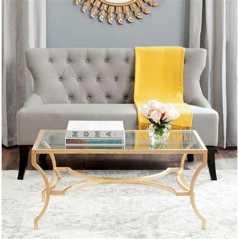Safavieh Alphonse Gold Coffee Table Fox2541a The Home Depot