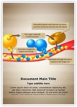 hormone glands enzymes editable word template and design