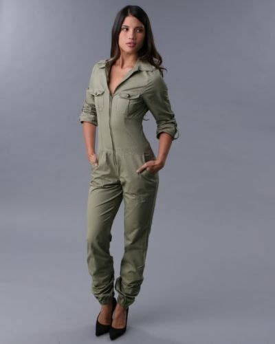 Jumpsuit Armi Army details about rocawear womens jumpsuit sleeve zip up army green alo jumper