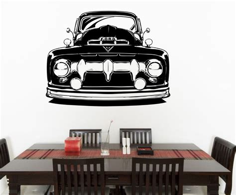 hot rod home decor removable ford truck classic car 58x75cm vinyl wall