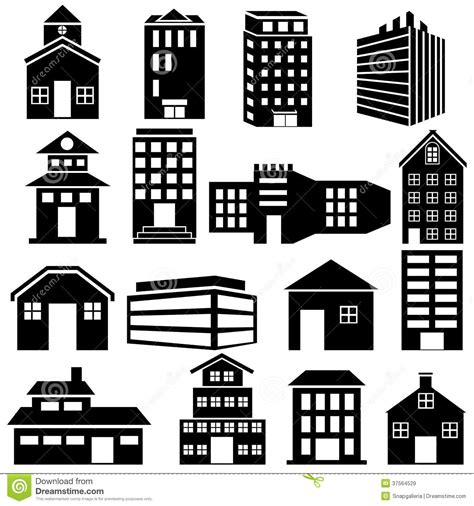Office Floor Plan Icons building and skyscraper icon royalty free stock images