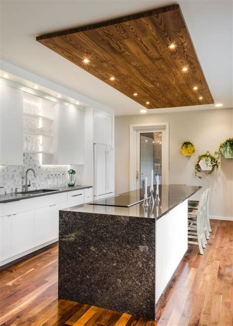 White Kitchen with Wood Ceiling   Naresh   Kitchen