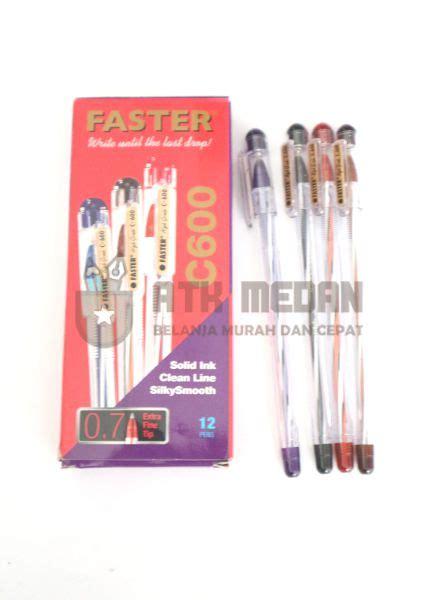 Pulpen Faster C6000 Hitam harga pulpen faster c600 di medan atk medan