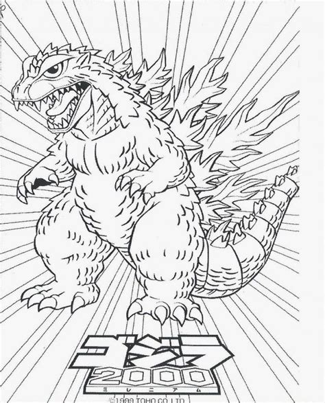 coloring pages for godzilla godzilla coloring page coloring home