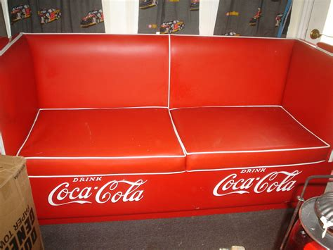 coca cola couch coca cola couch and loveseat collectors weekly