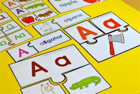 Letter Puzzles preschool phonics centers