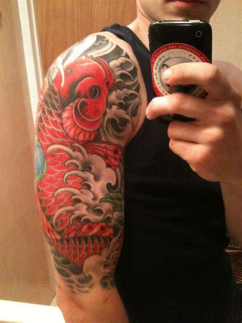 my half sleeve tattoo ink pinterest tattoo koi fish