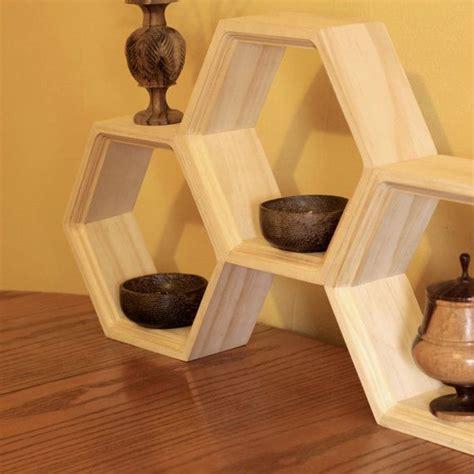 Honeycomb Shelves Wooden Book Shelf Mid Century Modern