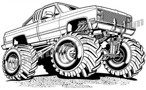 Mud Truck Clipart royalty free clip chevy 4x4 truck