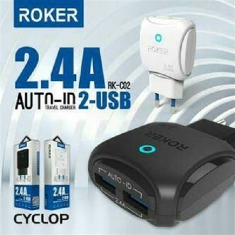 charger roker 2 output usb 2 4a kabel micro elevenia