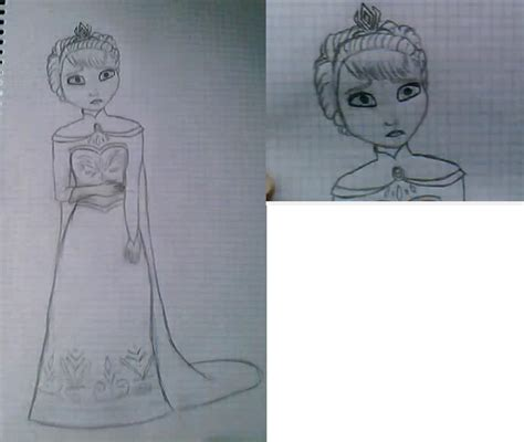 Disney Princess Images Elsa Drawing Hd Wallpaper And Princess Elsa Drawing