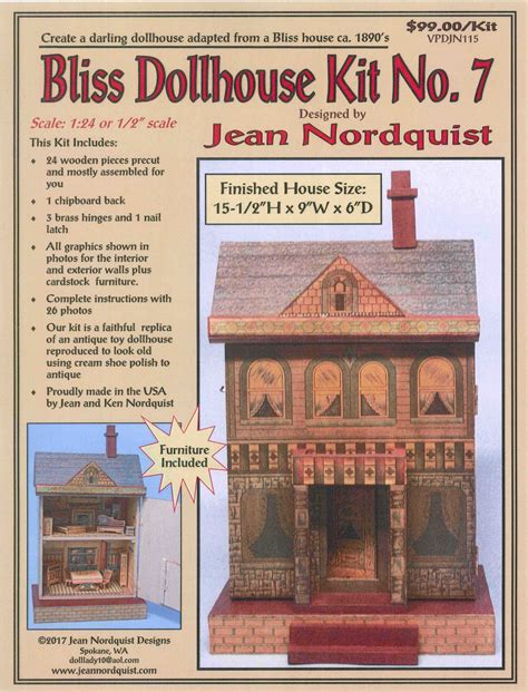 dollhouse 7th bliss dollhouse kit no 7 vpdjn115