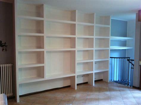 librerie in gesso realizzazione e montaggio librerie in cartongesso pareti