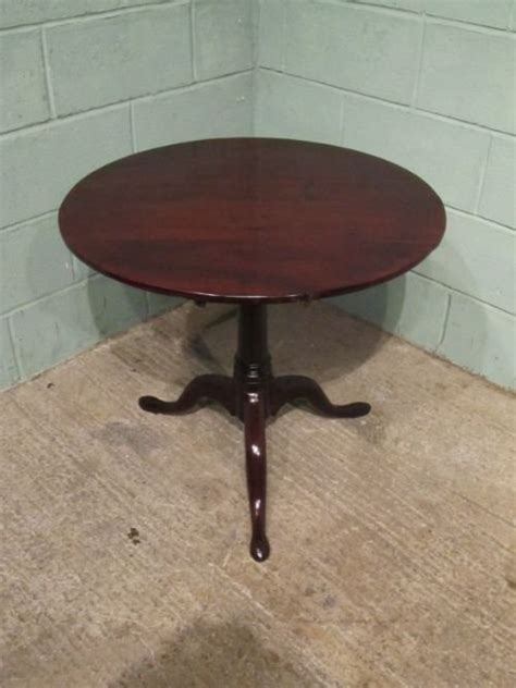 antique georgian mahogany bird cage tripod table c1780