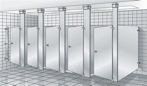 Ceiling Mounted Toilet Partitions by Bradley Revit Toilet Partition Family Sheet
