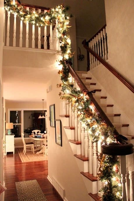 stairwell christmas garland lighting garland just a